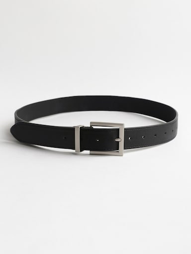 Black vegan-leather belt