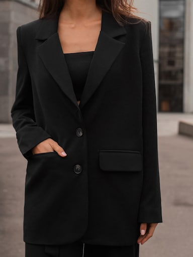 Oversized single-breasted blazer