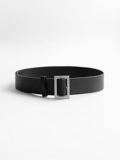 Burnished-buckle belt
