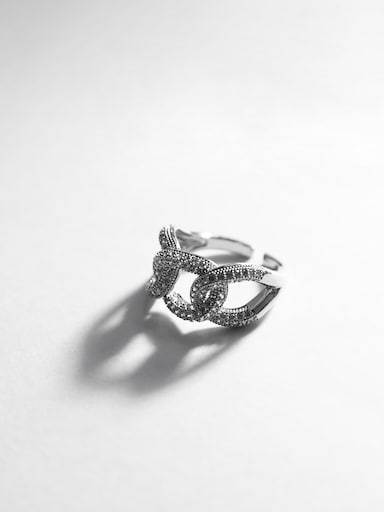 Rhinestone chain-link ring