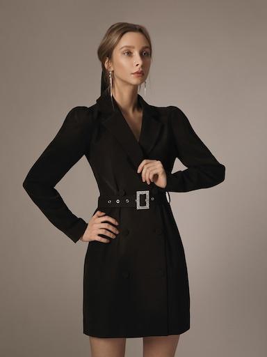 Платье-жакет в комплекте с поясом