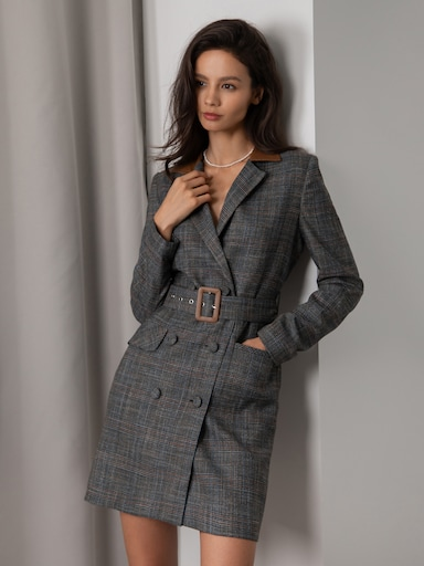 Two-tone blazer dress