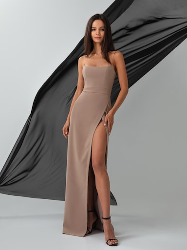 High-slit maxi dress