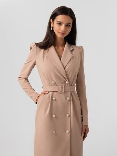 Двубортное платье-блейзер в винтажном стиле