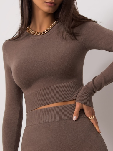 Fine-knit crop top