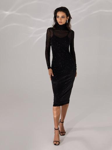 Вечернее платье-водолазка