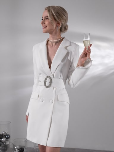 Платье-жакет с акцентным ремнем