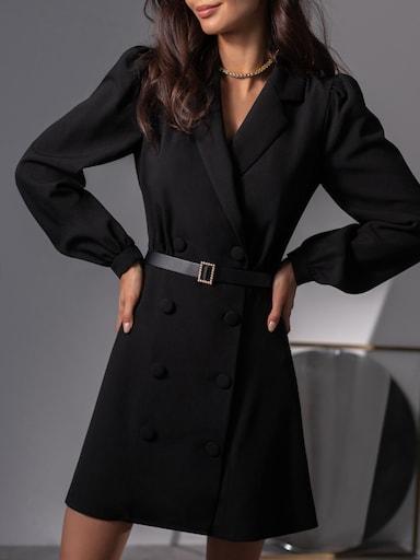 Платье-жакет с объемными рукавами