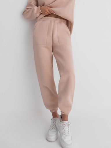 Lined wide-leg track pants