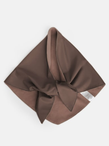 Vegan-leather shawl
