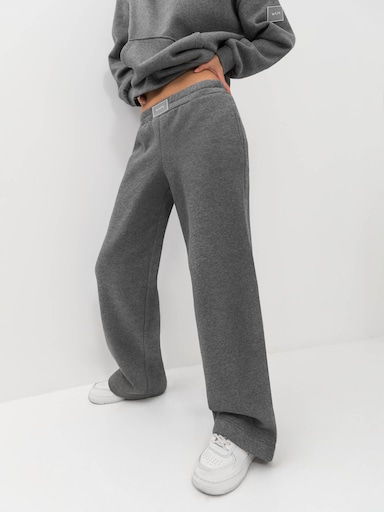 Lined straight-leg track pants