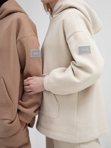 Appliqued lined hoodie