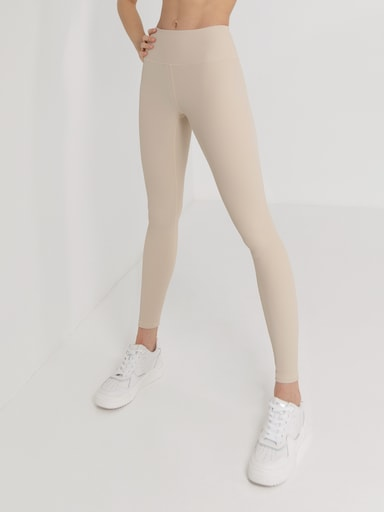 Ribbed stretch leggings