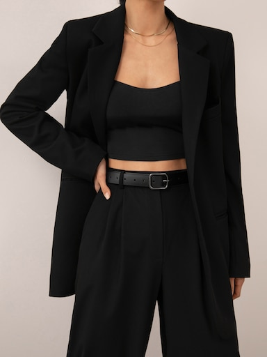 Single-breasted straight blazer